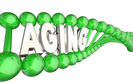 Aging DNA Strand Heredity Genes Getting Older 3d Illustration