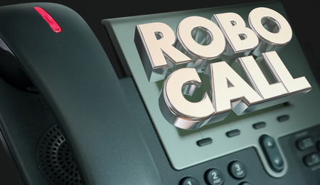 Robo Call Telefoon Marketing Spam Junk telefoon bellen 3d illustratie Stockfoto - 78201701