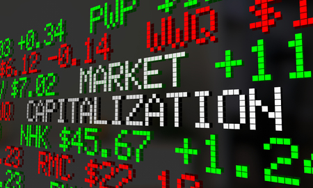 Market Capitalization Company Value Stock Price Ticker 3d Illustration Stock Photo