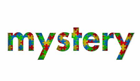Mystery Puzzle Pieces Solution Problem Secret Solved 3d Illustration