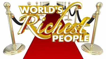 celebrities: Worlds Richest People Red Carpet Elite Money Wealth 3d Illustration Stock Photo