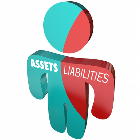 Assets Liabilities Company Business Accounting Person 3d Illustration Stock Photo