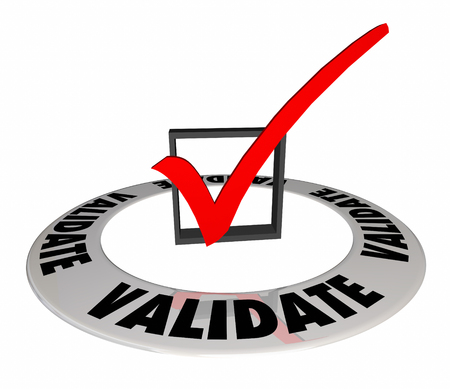 Validate Check Mark Box Confirm Verify Approve 3d Illustration Stock Photo