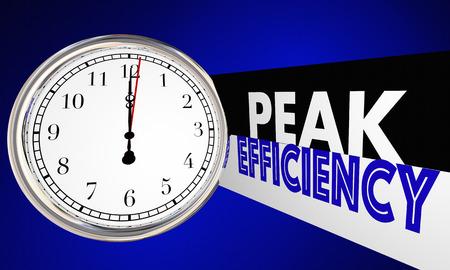 Peak Efficiency Time Clock Improve Productivity 3d Illustration
