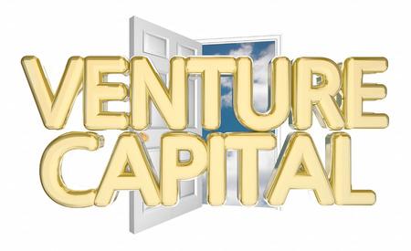 soliciting: Venture Capital Door Opening Find Funding Financing 3d Illustration
