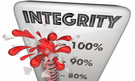 Integrity Thermometer Measure Reputation Honesty 3d Illustration
