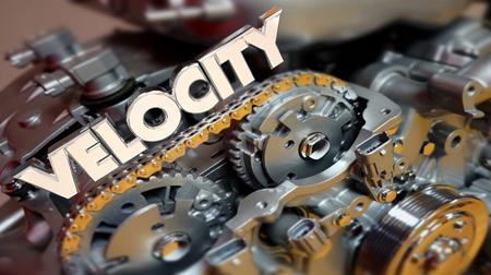 Velocity Engine Faster Horsepower Motor Speed 3d Illustration Фото со стока