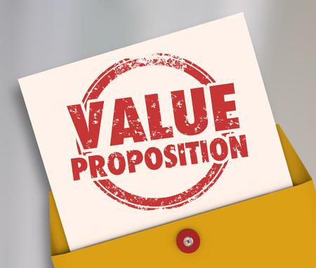 Value Proposition Proposal Business Deal Pitch Envelope 3d Illustration