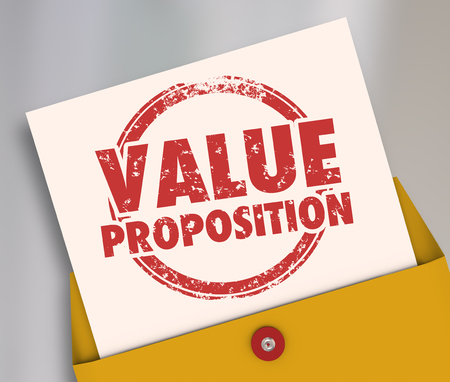 Value Proposition Proposal Business Deal Pitch Envelope 3d Illustration