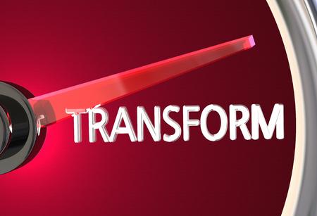 Transform Speedometer Measure Transition Transformation 3d Illustration