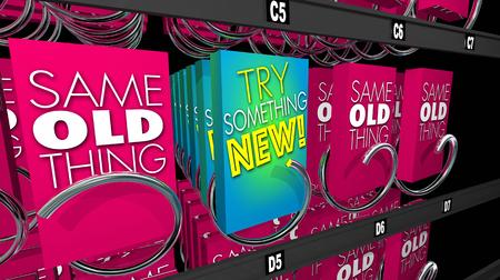 뭔가 새로운 제품 시험판 자동 판매기 3d 일러스트를 제공합니다