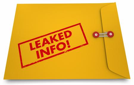 リーク情報分類文書公開の秘密明らかに 3 d 図
