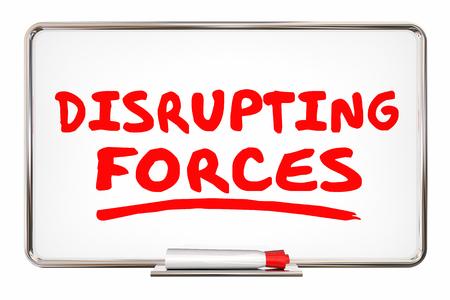Disrupting Forces Change Competition Marker Writing Words 3d Illustration Reklamní fotografie