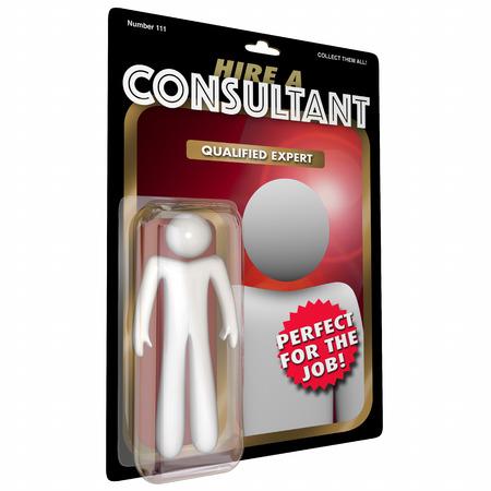 Consultant Action Figure Expert Ervaren professionele 3D-afbeelding Stockfoto