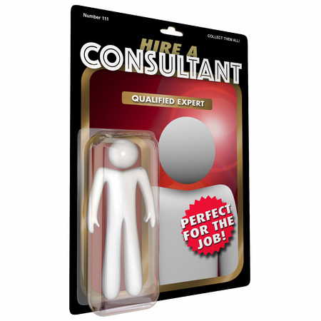Consultant Action Figure Expert Experienced Professional 3d Illustration Фото со стока