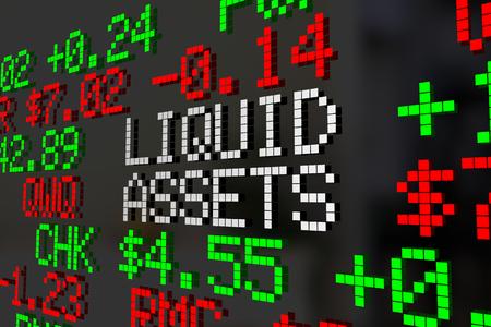 Liquid Assets Stock Market Investment Account 3d Illustration