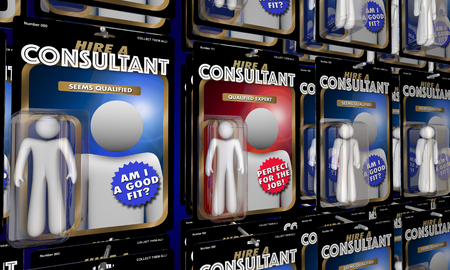 Consultant Choose Best Expert Hire Top Person for Job 3d Illustration