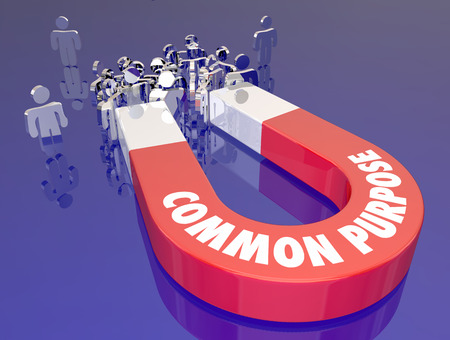 shared sharing: Common Purpose Attracting People Magnet Words 3d Illustration.jpg