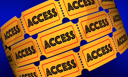 Access Tickets Rolls Admission Pass 3d Illustration