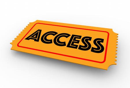 Access Ticket Pass Admission 3d Illustration Stock Photo