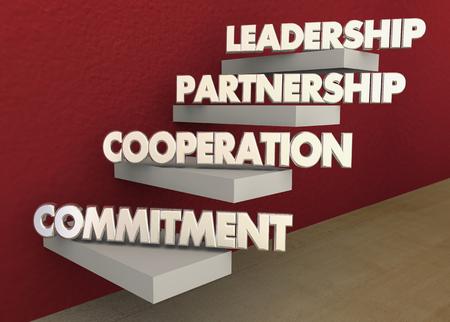 Leadership Partnership Collaboration Commitment Steps 3d Illustration.jpg
