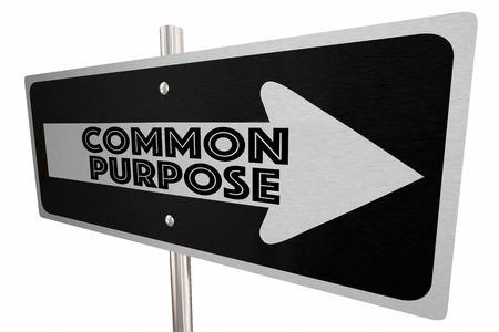 shared sharing: Common Purpose Sign Arrow Direction Words 3d Illustration.jpg