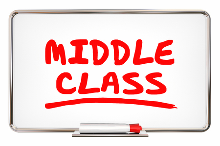 dry erase: Middle Class Dry Erase Board Income Lifestyle 3d Illustration