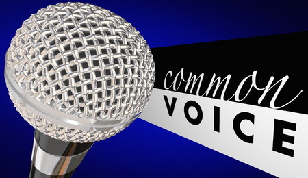 shared sharing: Common Voice Microphone Discussion Together 3d Illustration