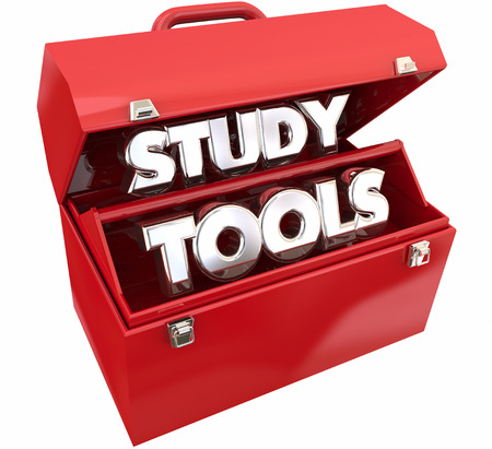 Study Tools Learning Education Toolbox Resources 3d Illustration Stock Photo