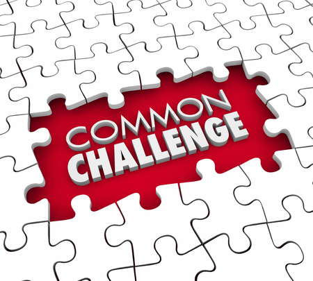shared sharing: Common Challenge Shared Problem Issue Puzzle 3d Illustration