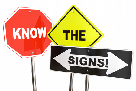 Know the Signs Warning Information Look for Clues 3d Illustration
