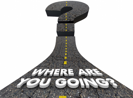 Where Are You Going Question Mark Road Destination Direction 3d Illustration