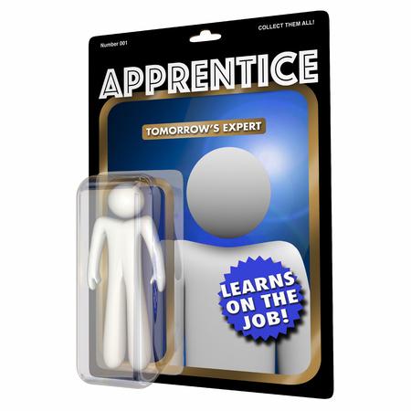 competencias laborales: Aprendiz Aprendiz Aprendiz Trabajo Habilidades Educación Accion Figura 3d Ilustración