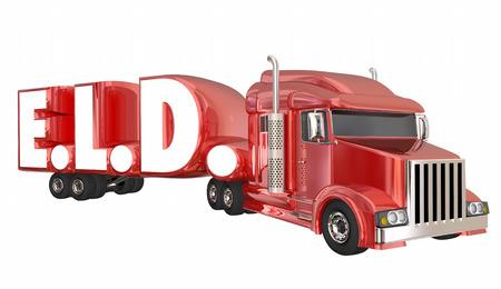 ELD Electronic Logging Devices Trucking 3D Illustratie