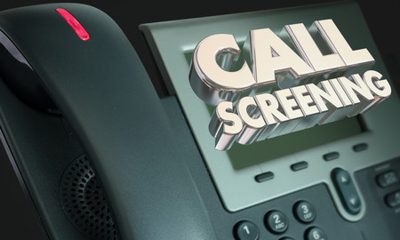 Call Screening Office Telephone Avoid Junk Spam Callers 3d Illustration Stock Photo