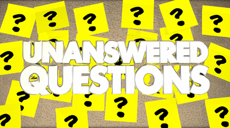 Unanswered Questions Sticky Notes Bulletin Board 3d Illustration