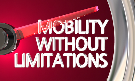 Mobility Without Limitations Speedometer Gauge 3d Illustration Stock Photo