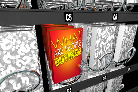 customer: What Are People Buying Question Buyer Activity Snack Machine 3d Illustration Stock Photo