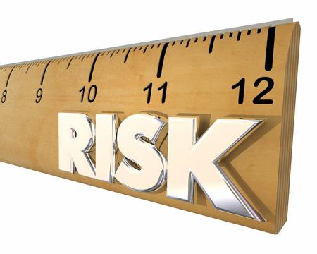 Risk Measurement Ruler Danger Warning 3d Illustration Reklamní fotografie