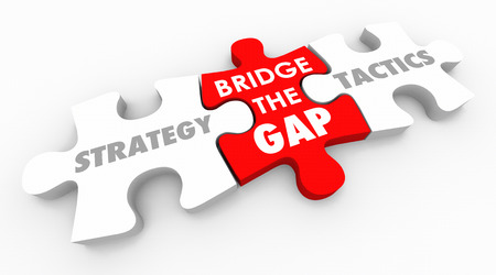 Strategy Tactics Bridge the Gap Action Plan 3d Illustration Stock Illustration - 80647832