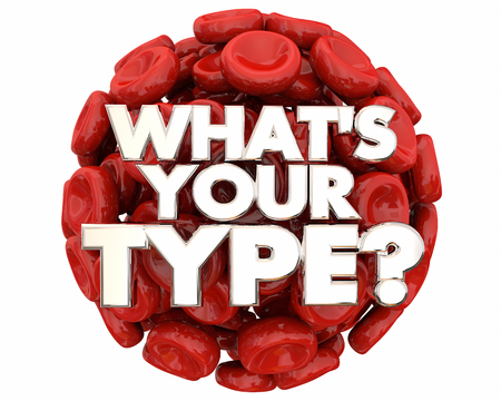 Whats Your Type Blood Cells Words Question 3d Illustration
