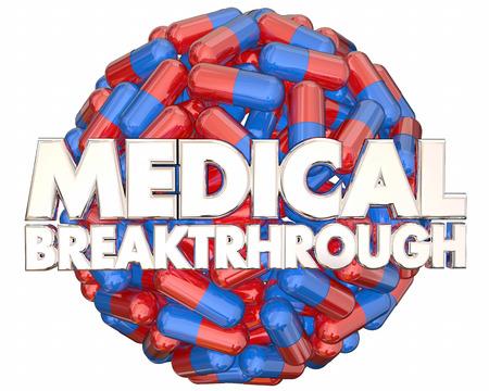 Medical Breakthrough Research Finding Pills Medicine 3d Illustration