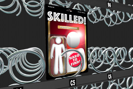 Skilled Employee Hard to Find Job Candidate Vending Machine 3d Illustration