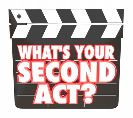 Whats Your Second Act Movie Clapper Board 2nd Career 3d Illustration