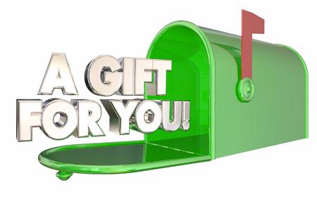 당신을위한 선물 사서함 특별 제공 상품 3d 일러스트