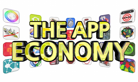 The App Economy Applications Software Development 3d Illustration