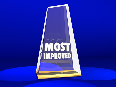 increasing: Most Improved Award Honor Improvement 3d Illustration