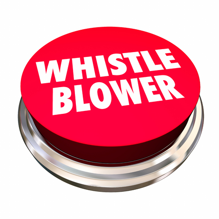 Whistle Blower Red Button Report Abuse Crime 3d Illustration