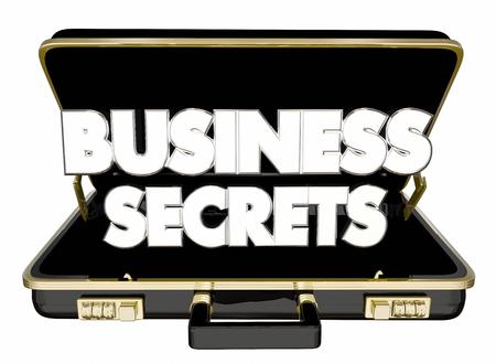 비즈니스 비밀 서류 가방 기밀 정보 무역 정보 3D 일러스트 레이션