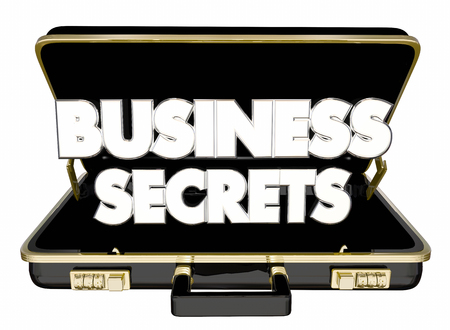 Business Secrets Briefcase Classified Confidential Trade Information 3d Illustration Фото со стока